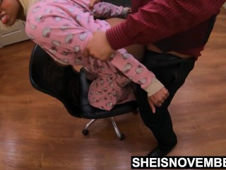 Wife Isn't Available For Pussy So Step Daughter Will Have To Do In Chair HD
