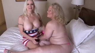 blonde bombshell lesbian pornstars