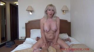Christie Cougar just loves morning sex