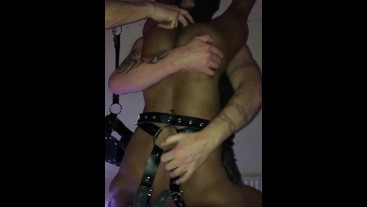 3 tops, 1 bottom. Gloryhole and fucking. One evening in the playroom.