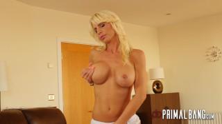 PrimalBang Hot Blonde Tiffany Rousso Sucks Cock & takes a big cumshot 4k bj