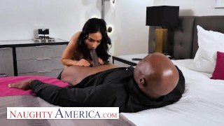 Screen Capture of Video Titled: Naughty America Tia Cyrus has permission from husband to fuck whomever