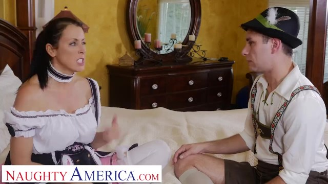 Naughty America Reagan Foxx gets a hard dick before the festival 15
