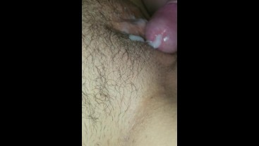 Getting fucked and creampied by a builder working on my house