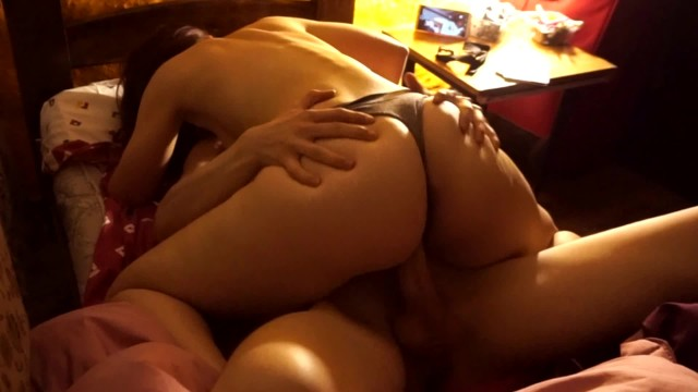 I fulfill my fantasy of fucking my cute classmate in her bed 5