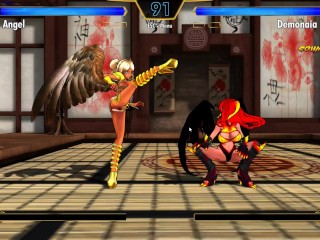 Game play hentai fighter demon vs angel...