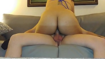 Colombian Slut Gets Messy Creampie By BWC On Couch