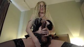 Prerecorded cam show. Nasty strapon slut suck strapon and fuck virgin ass