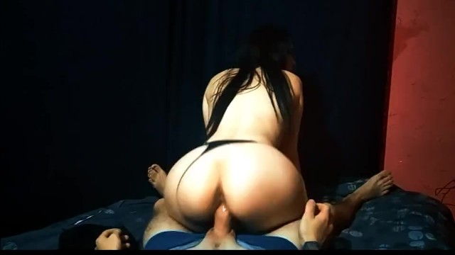 Shy girl with a big ass plays with a dick. sucks my cock. 7