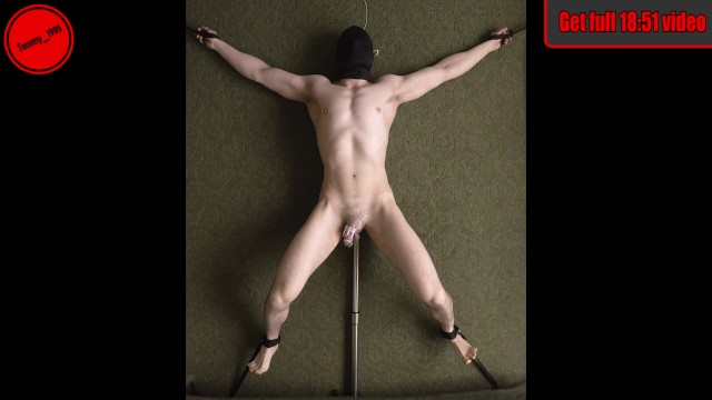 Asain prostrate porn Edging in chastity tied down - prostate vibrator - straight guy anal probe