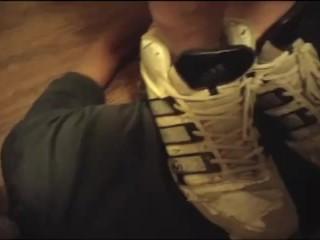 Male domination sneaker trample...