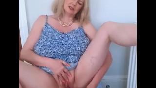 Annabel's summer dress dildo fuck