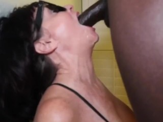 Hot milf granny scarletts 1st facial from bbc...