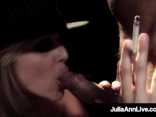 Magnificent Milf Julia Ann Smokes & Milks A Cock On Stage!