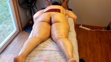 Back massage to my favorite student.