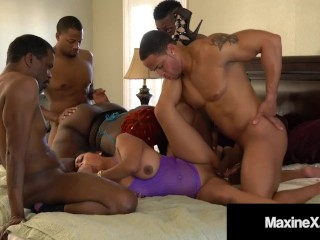 Hot cambodian x goes wild with 4 bbcs...