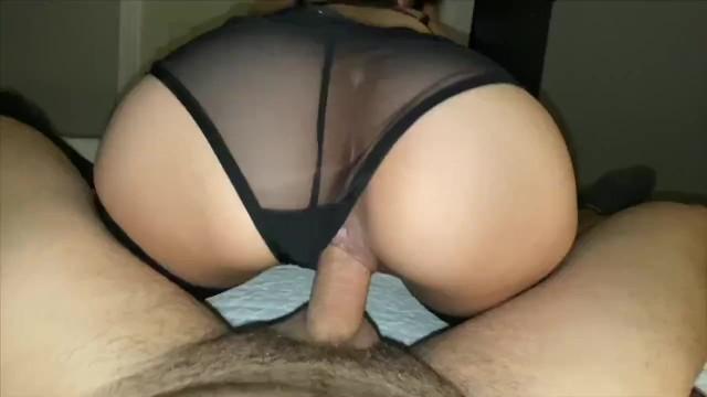 Teen takes dick in black panties POV—RoxannaRose 6