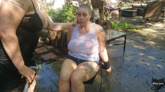 Free lesbian slave training clips Bdsm slave punished by castratta, her head is shaved and she gets the hose