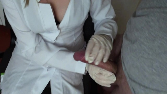Thrush fungus treatment penis Nurse massages the penis of an impudent patient. cums on her robe