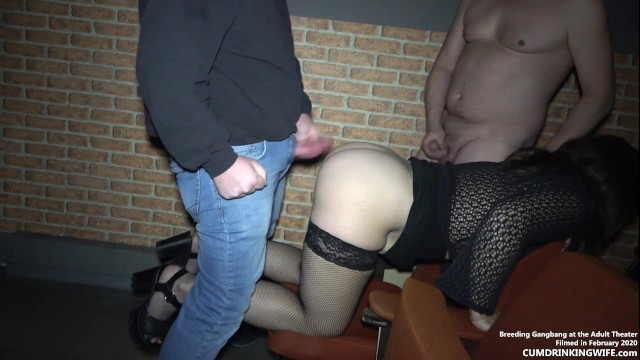 Hallowween adult Late night breeding gangbang at the adult theater