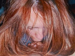 Long Hair Redhead Passionate Deepthroat Cum In Mouth Swallow Ginger Ale POV