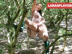 British MILF Getting Dirty in the Wilderness