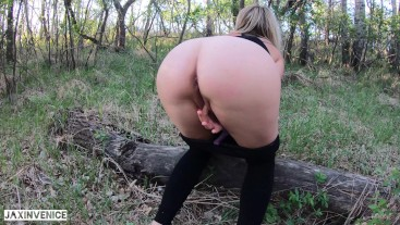 HOT MILF GETS CUM ON HER ASS OUTSIDE ON A HIKE-JAXINVENICE