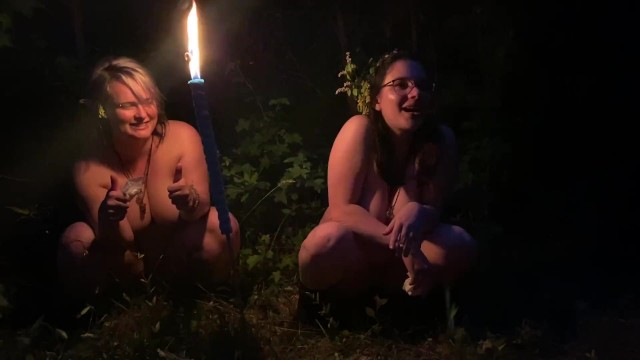 Tee pee pee Two drunk girls pee in the woods at a party