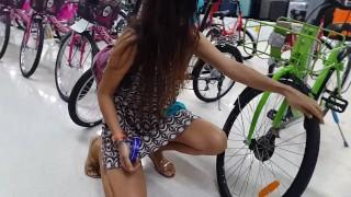Up Dress NO PANTIES and Risky FUN at SuperMarket