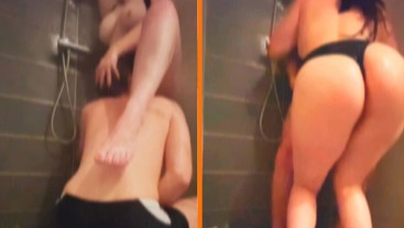 showers with my big booty sister always end in hard fuck, Family vacation