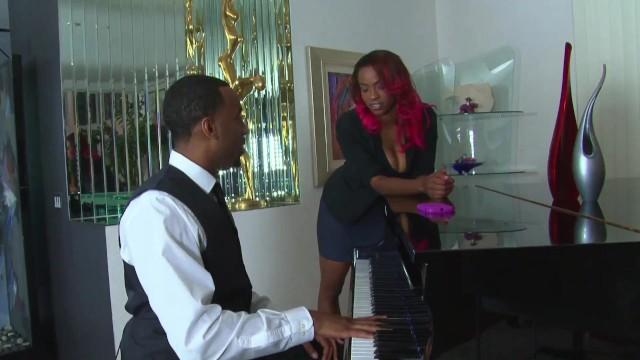 Black Beauty Big Tits Piano Teacher Gets Fucked Hard By A Big Cock 5
