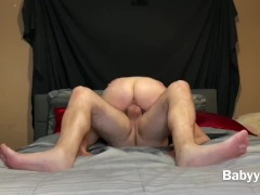 Babyybutt gets a throatpie after riding a big dick. perfect view of ass  | Recorded Cam Show
