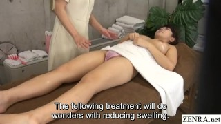 Lesbian massage in Japan for busty first time client