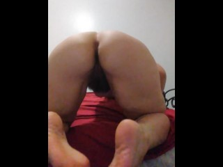 HUGE ASS White Girl Earns PAWG Tag Fingers Hairy Pussy Spread Behind Feet