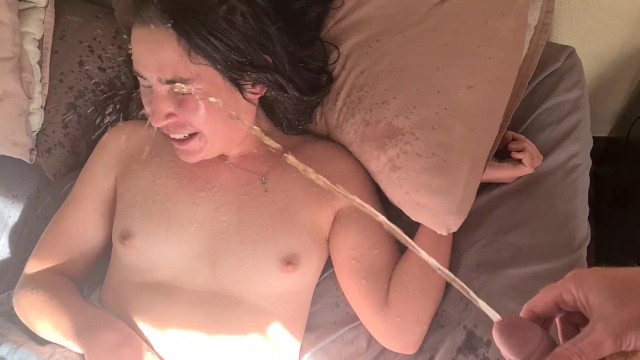 Teen wet pantie video Woken up with face piss then wetting my panties in bed