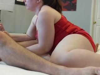 HOT BBW WIFE GIVES HUBBY A PROSTATE MASSAGE!! It felt soooo good ;)