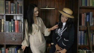 St Mackenzie's - Miss Taylor Strips Student Lauren to Try on Her Uniform