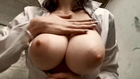 Skinny girl with big tits