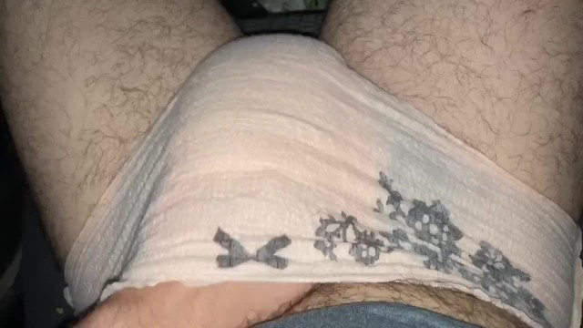 Diaper porn midget Cumming in my wet diaper