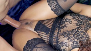 Sexy lingerie leads to intense and passionate sex w Creampie!!