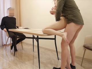 Wife Fucking Business Partner In Front Of Husband
