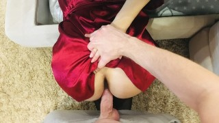 I fuck my stuck stepmom and cum in her mouth