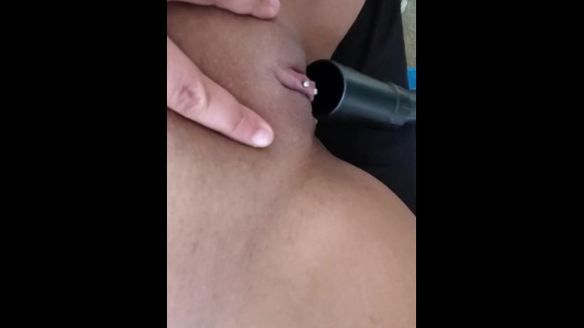 Clit piercing care Milf vacuums big pierced clit
