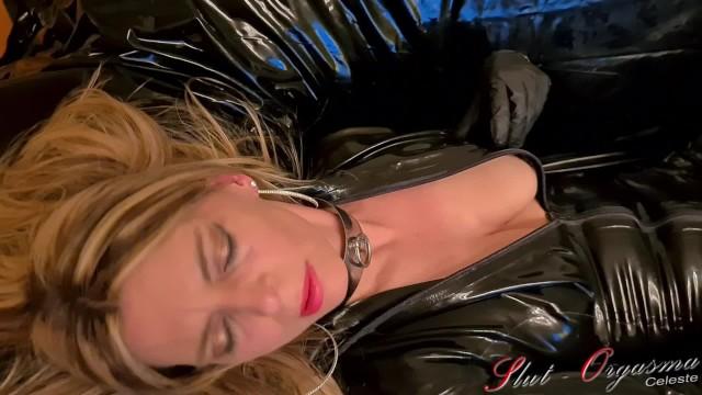 Celestion vintage 8 Slut-orgasma celeste beautiful agony, real orgasm in black latex catsuit