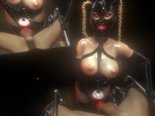 Citor3 3D SFM VR Fuck Game Mistress fucks male with dildo, cums again multiple times