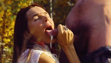 Outdoors Lovely Blow Job / With Slow Motion Moments!