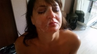 My face has never seen so much cum! (ten days my stepson was without sex)