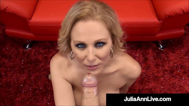 Holy Milf Blowjobs! Julia Ann Milks, Sucks & Busts A Nut! 15