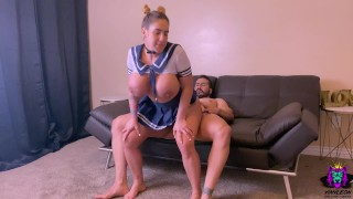 stepdad stepdaughter after caught her dildoing herself on the couch