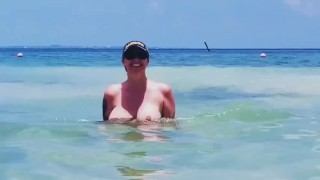 Julia Ann topless at the beach - onlyfans leak